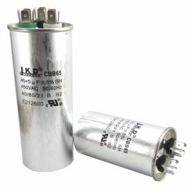 Конденсатор пусковой CBB65 (55+5mF, 450VAC)